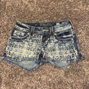 Miss Me Aztec Print shorts size 24